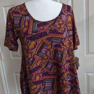 Women's Lularoe Classic multi-color shirt Size XS